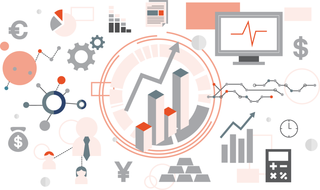 Business intelligence and analytics clipart